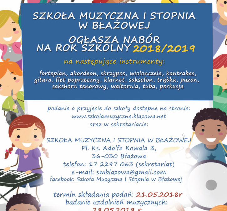 Nabór na rok szkolny 2018/2019