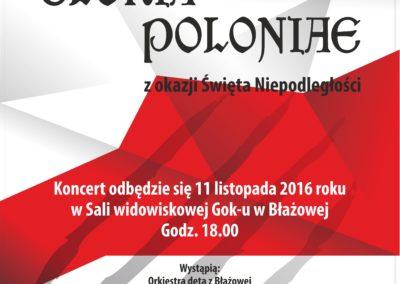 Koncert GLORIA POLONIAE – 11.11.2016