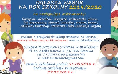 Nabór na rok szkolny 2019/2020