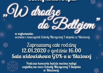 """""""W drodze do Betlejem"""" –  Gminny Ośrodek Kultury w Błażowej 12.01.2020 r."""