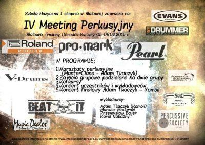 IV Meeting Perkusyjny 05-06.02.2015 r.